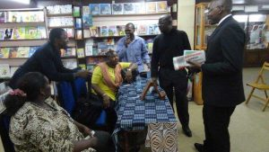 2014, preparing the launch of the Cameroon edition of 'Mount pleasant'.